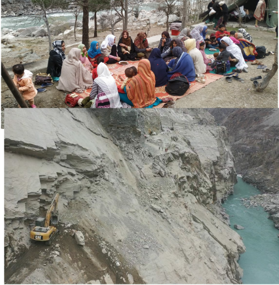Gilgit-Skardu road closed due to landslide. FWO provided food to the passengers