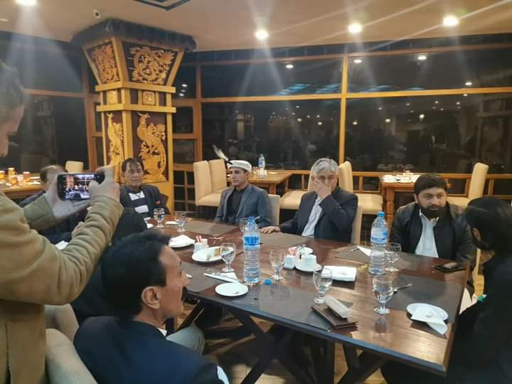A high powered delegation consist of various walks of life from hunza met the sr. Minister Obaidullah beg today at Aliabad