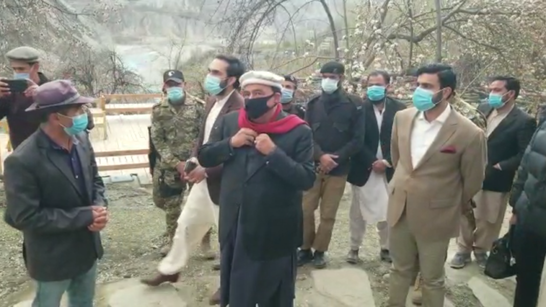 Hunza.Home Minister Sheikh Rasheed Ahmed visits Hunza's historically famous alat Fort .